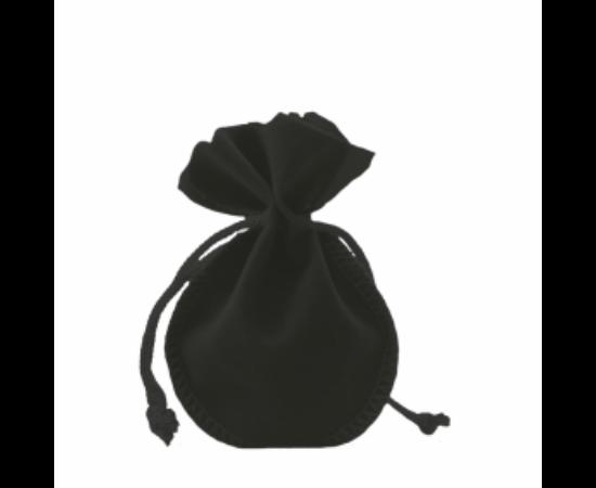 Bársony tasak, fekete
