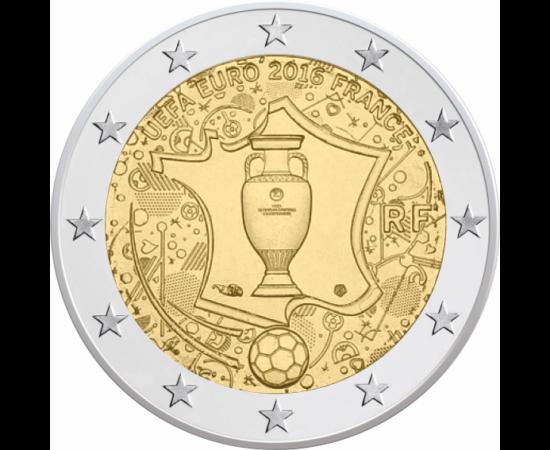 // 2 euró, Franciaország, 2016 // - A foci EB hivatalos eurós emlékpénze