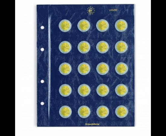 VISTA érmealbumlap 20 darab 2 euró érmékhez