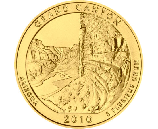 // 7x25 cent, USA, 2010-2014 // - Az Amerikai Egyesült Államok számtalan természeti kinccsel, csodával rendelkezik, melyeket nemzeti parkokba szervezve őriz meg az utókornak. A leghíresebb nemzeti parkjairól kiadott negyed dolláros érméket most színaranny