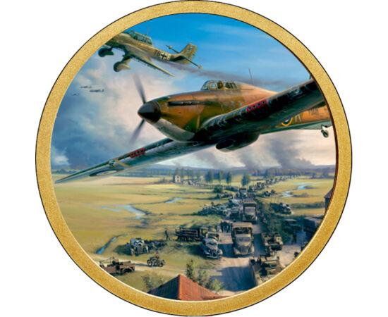 // 1 dollár, USA, 2007-2016 // - A győzedelmes Luftwaffe, a német légierő első igazi ellenfele a Royal Air Force, brit légierő lett. A brit sziget megszállási hadműveletének első lépése volt a német légi fölény kivívása. Ez nem sikerült az 1940-es angliai