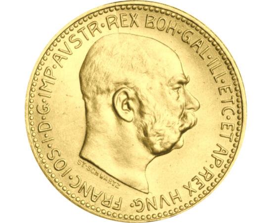 // 20 korona, 900-as arany, Ausztria, 1915 // - Az Osztrák-Magyar Monarchia arany koronái már nagyapáinknak is azt jelentette, amit ma is, a biztos menedéket. Az arany koronák gyűjtése a numizmatikai élmény mellett az érték biztonságát is magába foglalta,
