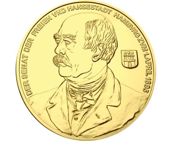// 10 dukát utánveret, , 0 // - Otto von Bismarck a német birodalom legkiemelkedőbb államférfija, Poroszország miniszterelnöke, majd a Német Császárság kancellárja volt. Vezetésével a Német Császárság katonailag és gazdaságilag egységes, erős nagyhatalomm