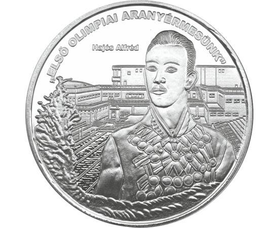 // ezüstözött érem, Magyarország, 0 // - Hajós Alfréd nem sportolónak készült, mégis a magyar sporttörténelem egyik legnagyobb alakja volt. Építészként is jelentős alkotásai maradtak ránk, azonban a legtöbben sportolói sikerei révén ismerik a nevét. Az 18