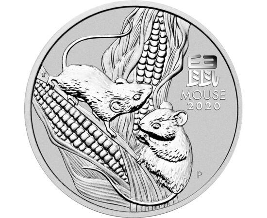 // 8 dollár, 999,9-es ezüst, Ausztrália, 2020 // - 2020-ban a patkány éve köszönt ránk, mely éles eszével és túlélő ösztöneivel remélhetőleg sok szerencsét hoz nekünk. Egy biztos, aki ezt az impozáns méretű nagy súlyú ezüst érmét magáénak tudhatja, már sz