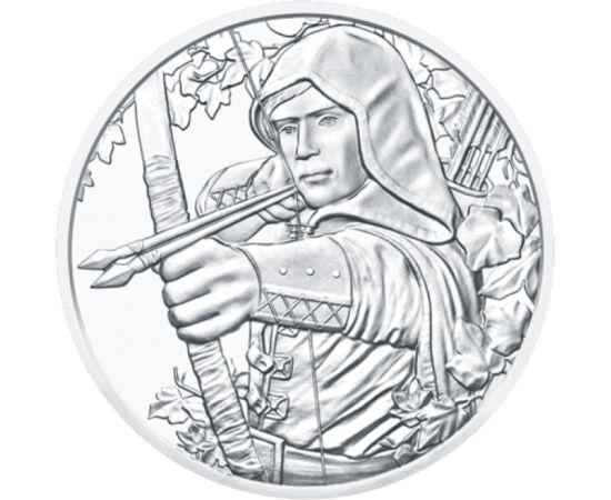// 1,5 EUR, 999-es ezüst, Ausztria, 2019 // - Robin Hood, nemes tolvaj, aki a szegények pártjára állt, a gazdagoktól lopott és a nincsteleneknek adta. Legendás alakja mesék, regények ihletője. Történetét többen meg is filmesítették már. Ezúttal pedig szín
