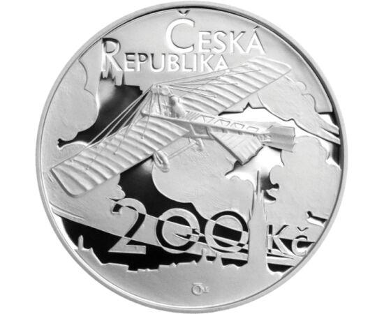 // 200 korona, 925-ös ezüst, Csehország, 2011 // - Jan Kaspar cseh mérnök az első cseh repülőgép tervezője. Leghíresebb repülése távolsága meghaladta a 121 km-t; 92 percig körülbelül 800 m magasságban repült. Abban az időben ez volt a leghosszabb repülés