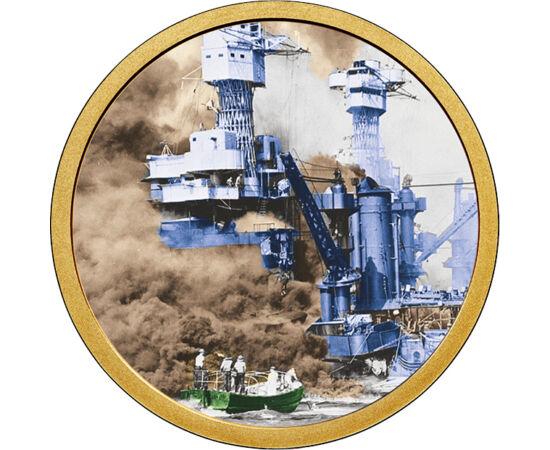 // 1 dollár, USA, 2007-2016 // - 1941. december 7. a II. világháború egyik legjelentősebb fordulópontja volt. Az USA  támaszpontját 2 hullámban támadta a japán flotta. Az időzítés tökéletes volt, a támadás váratlanul érte a támaszponton lévőket, így az US