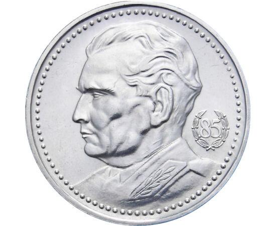 // 200 dinár, 750-es ezüst, Jugoszlávia, 1977 // - Josip Broz Tito Jugoszlávia első számú vezetője volt. A partizánvezérből lett államfő a világháború után kibújt a szovjet befolyás alól, különutas szocializmust épített. 85. születésnapját ezüstpénz kiboc