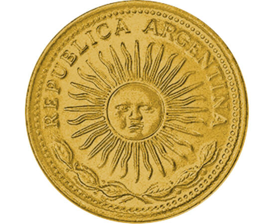 // 5 peso, Argentína, 1976-1977 // - A föld egyik legnagyobb országa, a tangó hazája, Argentína. Neve a latin ezüst - argentum - szóból származik. Az Inkák kulturális öröksége, Napisten imádata a mai napig érezhető a Dél-Amerikai országokban. Ez köszön vi