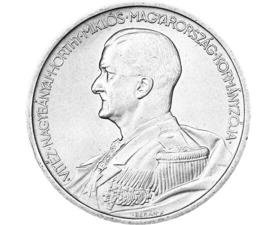 """// 5 pengő, 640-es ezüst, Magyar Királyság, 1939 // - 1926-ban került bevezetésre a pengő. Az I. világháború után elértéktelenedett koronát váltotta fel. A """"boldog békeidők"""" ezüst pengő érméit a II. világháború idején hadifémből, vasból és alumíniumból ké"""