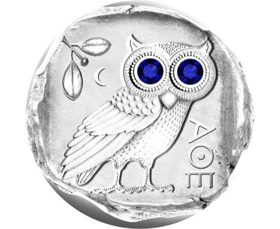 // 2 dollár, 925-ös ezüst, Fidzsi-szigetek, 2019 // - A bagoly évezredek óta a bölcsesség és tudás szimbóluma. Pallasz Athéné, a bölcsesség istennőjének szent madara, melyet a görögök az istennő megtestesülésének tartottak. Nagy szeme erősítette azt a hit