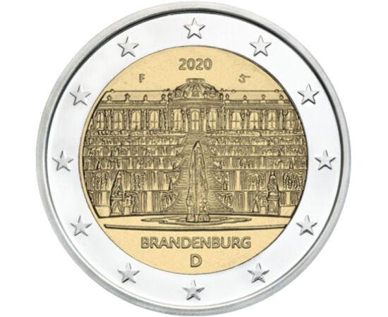 // 2 euró, Németország, 2020 // - A Sanssouci kastélyt Nagy Frigyes építtette, aki az államügyektől kívánt ide