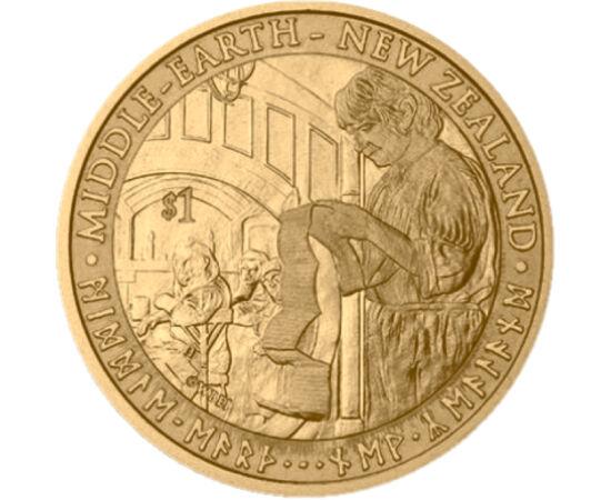 // 1 dollár, Új-Zéland, 2012 // - A hobbit, Tolkien nagy sikerű fantáziaregényének Új-Zélandon forgatott filmváltozata méltó folytatása, előtörténete lett a Gyűrűk ura trilógiának. Az első rész premierjére az Új-Zélandi Központi Bank egy különleges tervez