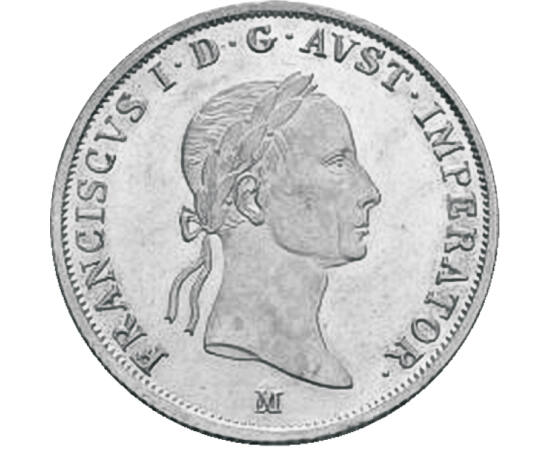 // 20 krajcár, 583-as ezüst, Osztrák Császárság, 1831-1835 // - I. Ferenc magyar király volt az utolsó Német-Római császár, aki korábbi veje, I. Napóleon terjeszkedése miatt mondott le az ősi címről. Egyben elsőként lett Ausztria császára. Uralkodása végé