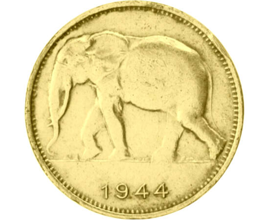 1 frank, Elefánt, 1944-1949 Belga Kongó