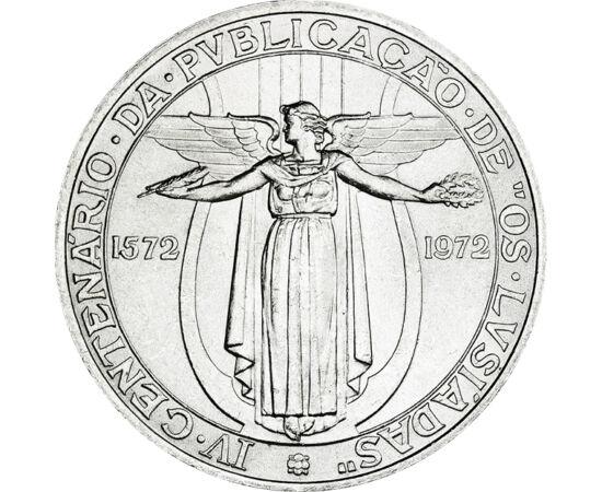 // 50 escudo, 400-as ezüst, Portugália, 1972 // - Louís Vaz de Camoes híres reneszánsz portugál költő. Hírnevét a Vasco de Gama útját feldolgozó, a Luziadák nemzeti eposz alapozta meg. Éles nyelve arra kárhoztatta, hogy egyre távolabb űzték hazájától. Elő