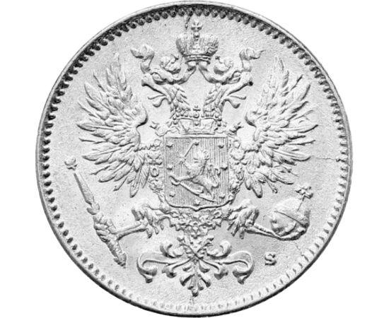 // 50 pennia, 750-es ezüst, Finnország, 1907-1917 // - A XIX. század elején a Finn Nagyhercegség az Orosz Birodalom autonóm részévé vált, és több mint 100 évig volt az orosz cár a finn nagyherceg. Függetlenségét 1917-ben vívta ki, és meg is őrizte sikeres
