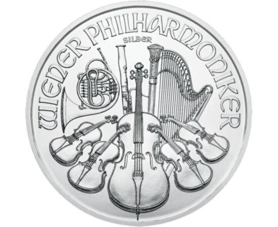 """// 1,5 euro, 999-es ezüst, Ausztria, 2020 // - A nagy múltú Osztrák Állami Pénzverde igazi sikerterméke az ezüst """"Bécsi filharmonikusok"""" érméje. Az érmék a verde vezető vésnökének a munkái. Előlapján a zenekar hangszereivel, a hátlapján a Bécsi Zeneegylet"""