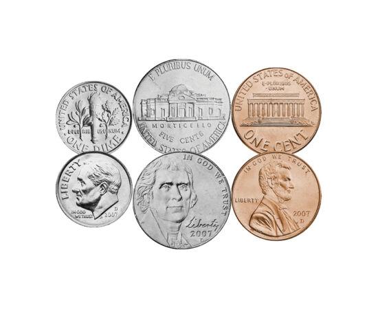 // 1, 5, 10, 25, 50 cent, 1 dollár, USA, 1994-2019 // - Az amerikai dollárok a legsikeresebb és legkeresettebb érmék közé tartoznak. Ennek a kedvelt gyűjtési területnek néhány gyöngyszeme alkotja ezt a forgalmi sort, mely egy gyűjteményből sem hiányozhat.