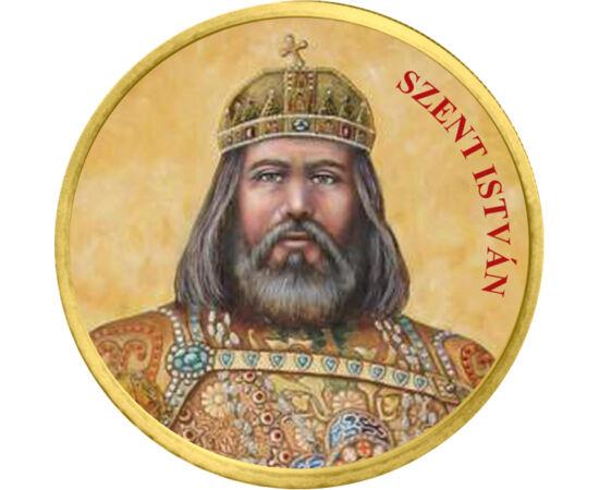 // 50 cent, Európai Unió, 2002-2019 // - Szent István első királyunk, államiságunk megteremtője. Az ő nevéhez kötődik a kereszténység megszilárdítása hazánkban. Tettei meghatározták az ország jövőjét: hazánk a keresztény Európa részévé vált. Törvényei a k