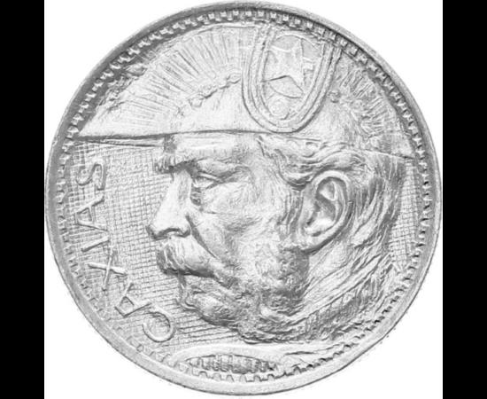 // 2000 reis, 500-as ezüst, Brazília, 1935 // - Luis Alves de Lima, Caxias hercege Brazília történelmének leghíresebb katonatisztje a Vasherceg vagy Béketeremtő. Aktív katonai évei Brazília történelmének egyik legforrongóbb, legvéresebb időszaka. Sorra tö