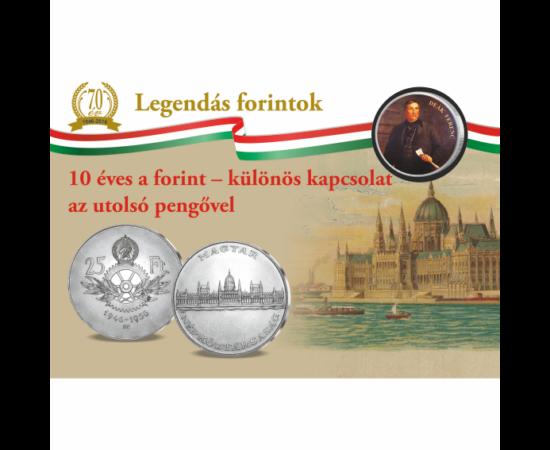 50 cent, ezüstözött, Deák Ferenc Gyűjteményi darab