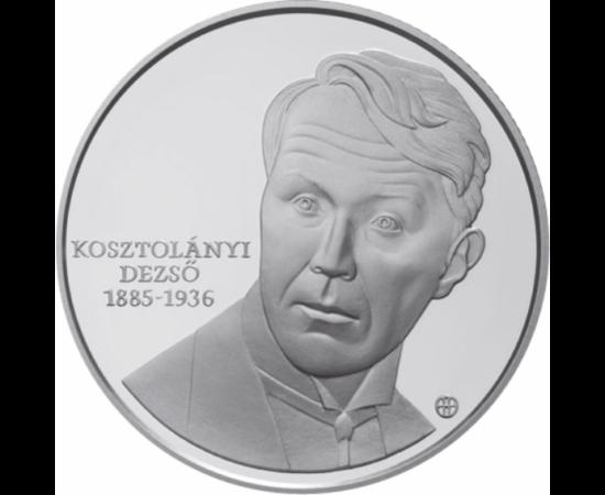 // 5000 forint, 925-ös ezüst, Magyar Köztársaság, 2010 // - Kosztolányi Dezső, a Nyugat első nemzedékének költője születésének évfordulóját ünnepelte éppen 10 éve a Magyar Nemzeti Bank. Az Édes Anna írójának, a Hajnali részegség költőjének emlékét immár a