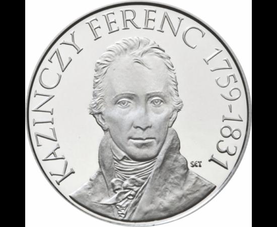 // 3000 forint, 925-ös ezüst, Magyar Köztársaság, 2009 // - 2009-ben ünnepeltük Kazinczy Ferenc születésének 250 éves évfordulóját. A Martinovics-féle összeesküvés miatt bebörtönzött hazafi legfőbb feladatának a magyar nyelv megújítását tartotta. Az ezüst