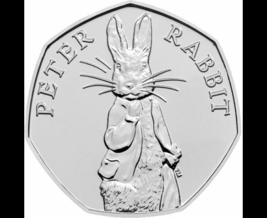 // 50 penny, Nagy-Britannia, 2019 // - Beatrix Potter meséi az angol vidéki tájat és életet mutatják be. Az írónő híres nyuszija, Nyúl Péter története 2018 tavaszán a filmvásznon is visszaköszönt, olyan nagy sikerrel, hogy idén tavasszal látható lesz a me