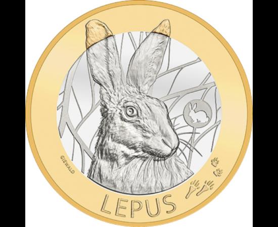 // 10 frank, Svájc, 2020 // - Húsvét közeledtével a gyermekek lelkesen várják a nyuszit mely a tojásokat hozza. A nyúl és a tojás egyaránt a tavasz, az újraéledő természet és a termékenység szimbóluma. Talán nem véletlen, hogy a svájci pénzverő erdei vadá
