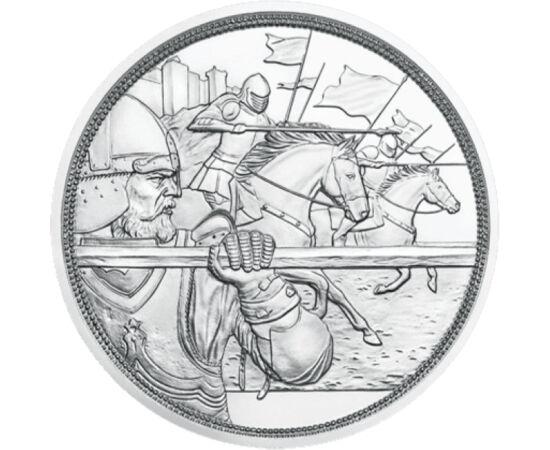 // 10 euró, 925-ös ezüst, Ausztria, 2020 // - A templomos lovagok életmódja egyesítette a szerzetesek istenfélő, tiszta életét a lovagok becsületes, bátor és kompromisszumok nélküli jellemével. Ők voltak a kor elit harcosai. Létezésüket, életüket számtala