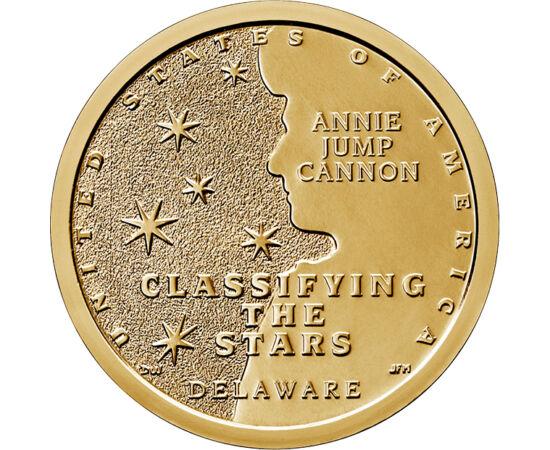 // 1 dollár, USA, 2019 // - Az USA tavaly indított érmesorozata a tudomány úttörői előtt tiszteleg. A 2019-ben kibocsátott dolláros a csillagász Annie Jump Cannon munkásságáról emlékezik meg. Kialakította a csillagok osztályozási rendszerét, melyet ma is
