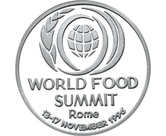 // 100 lej, 925-ös ezüst, Románia, 1996 // - Az Élelmezésügyi Világszervezet az ENSZ legrégibb szakosodott szervezete, melyet 1945-ben Quebecben alapítottak meg, majd 1951-ban székhelye átkerült Rómába. Célja az életszínvonal emelése, a szegénység és az é