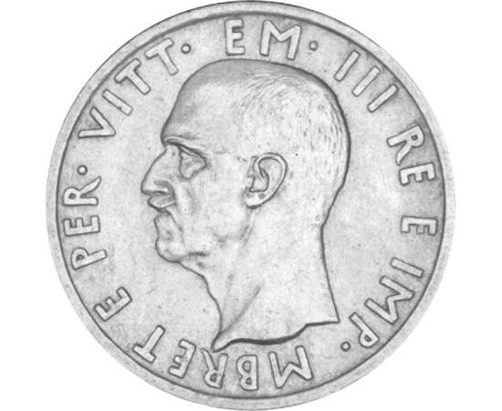 // 5 lek, 835-ös ezüst, Albánia, 1939 // - Albániát 1939-ben lerohanta Olaszország, és III. Viktor Emánuel olasz király lett az albán király. Ő lett az utolsó, mert a háború után a királyság elbukott. Az albán érmén is III. Viktor Emánuel név szerepel, me
