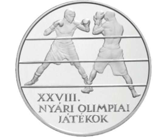 // 5000 forint, 925-ös ezüst, Magyar Köztársaság, 2004 // - Az olimpia a világ legnagyobb és legnépszerűbb sporteseménye. A MNB hosszú évek óta ezüst emlékpénzen tiszteleg az olimpikonok és az olimpiák előtt. Így tette ezt az Athéni olimpia kapcsán is, mi