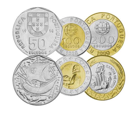 // 1, 5, 10, 20, 50, 100, 200 escudo, Portugália, 2001 // - A XVI. századi portugál hajósok földrajzi felfedezései óriási jelentőségűek voltak, hiszen alapvetően formálták át az európai civilizáció világképét, kultúráját, társadalmát és gazdaságát. Nem vé