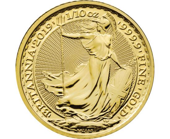 // 10 font, 999,9-es arany, Nagy-Britannia, 2012-2020 // - A nagymúltú és közkedvelt arany befektető érme, a Britannia 2012 óta készül négy kilences tisztaságú aranyból. A befektetési érmék válsága miatt korlátozott darabszámban, kizárólag raktárkészletün