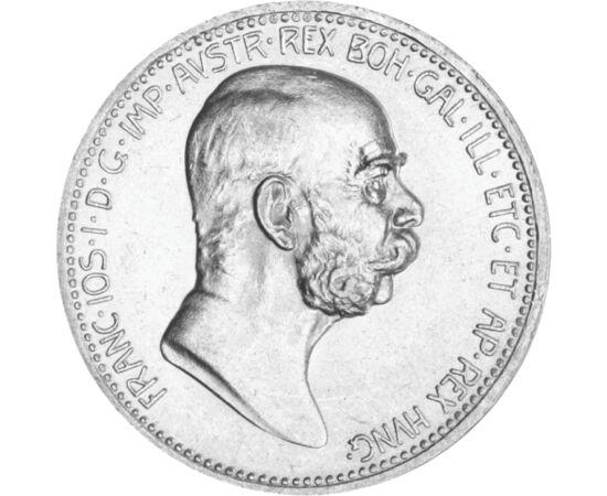 // 1 korona, 835-ös ezüst, Osztrák-Magyar Monarchia, 1908 // - Ferenc József, Ausztria császáraként 1848-ban lépett a trónra. Uralkodásának 60. évfordulóját az egész Monarchiában ünnepségsorozat kísérte, így többek között ezüst 1 koronás érme kibocsátásáv