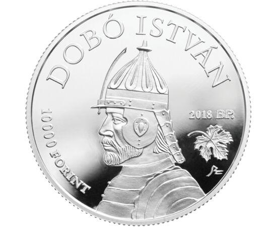 // 10000 forint, 925-ös ezüst, Magyarország, 2018 // - Az Egri csillagok a Nagy könyv verseny abszolút győztese volt. Dobó István és Bornemissza Gergely mindannyiunk hőse. A magyar várakat bemutató érmék sorát gazdagítja ez a legújabb érme, melyen az egri