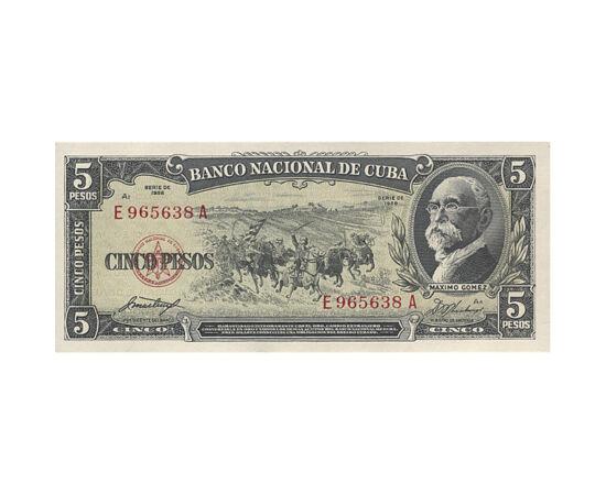 // 5 peso, Kuba, 1958 // - A Nagy-Antillák legnagyobb szigete, a salsa, a fehér rum és a szivar hazája. Kolumbusz 1492-ben itt szállt partra. 1953-ban kitört kubai forradalom eredményeként Fidel Castro forradalmi kormánya került hatalomra. Ez a bankjegy a