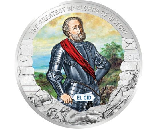 // 1 dollár, Palau, 2014 // - El Cid a legendás spanyol nemzeti hős, a mórok elleni felszabadító háború hadvezére volt. 1087-ben VI. Alfonz király száműzte őt Kasztíliából, de vitézsége miatt később visszahívták a száműzetésből. 1092-ben meghódította Vale