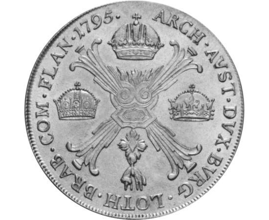 // 1 tallér, 873-as ezüst, Habsburg Birodalom, 1792-1798 // - A tallérok méretük és ritkaságuk miatt a gyűjtemények legértékesebb darabjai. Közöttük is különlegesek a koronás tallérok, melyeken nem a címerrel, hanem az uralt országok koronáival jelezték a