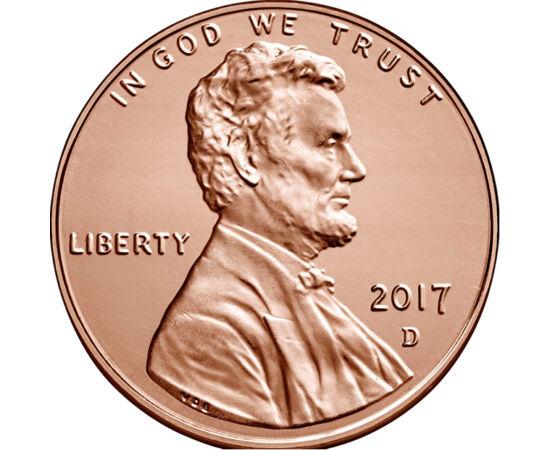 // 1 cent, USA, 2017 // - Abraham Lincoln az egyik legnagyobb amerikai elnök volt. A polgárháború során győzelemre vitte Északot és eltörölte a rabszolgaságot. Az USA 1 centeseit az ő portréja díszíti. Bár az érme előállítási költsége már bőven meghaladja