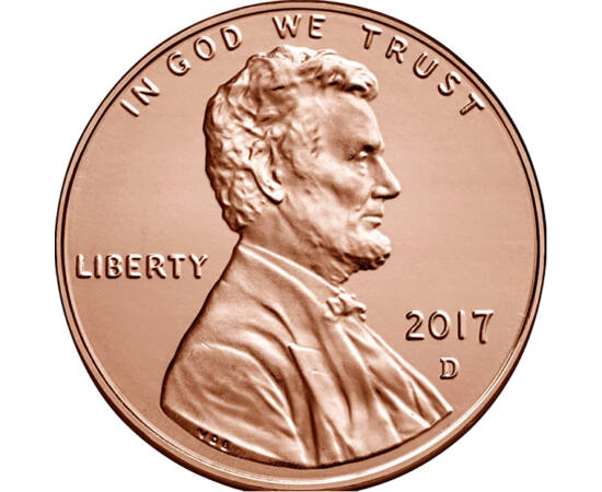 1 cent, Abraham Lincoln, 2017 USA