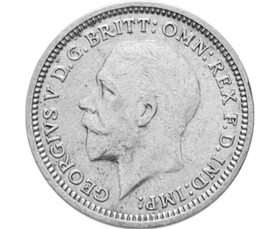 // 3 penny, 500-as ezüst, Nagy-Britannia, 1927-1936 // - A fontot 1971 előtt a 12-es számrendszer szerint váltották. 1 font 20 shillinget, az pedig 12 pennyt, azaz 1 font 240 pennyt ért. Így a shillinget könnyen osztotta a 2, 3, 4 és 6, a fontot továbbá a