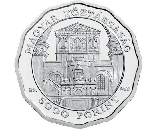 // 5000 forint, 925-ös ezüst, Magyar Köztársaság, 2007 // - 2007-ben volt 360 éve, hogy a Rákóczi család ágyúkból öntött nagyharangját a debreceni Nagytemplomban felszentelék. 170 éves lett a gyönyörű orgona, és ekkor volt 160 éve, hogy Kossuth Lajos itt