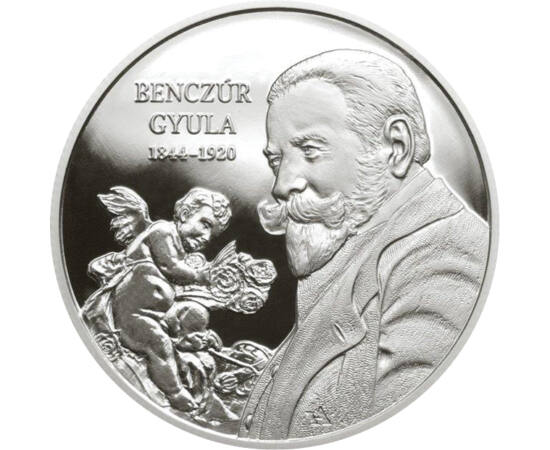 // 10000 forint, 925-ös ezüst, Magyarország, 2019 // - Az MNB nagysúlyú ezüstpénzt bocsátott ki Benczúr Gyula születésének 175. évfordulójára 2019-ben. Az érme a historizmus legnagyobb magyar mestere előtt tiszteleg, aki már életében is nemzetközileg elis