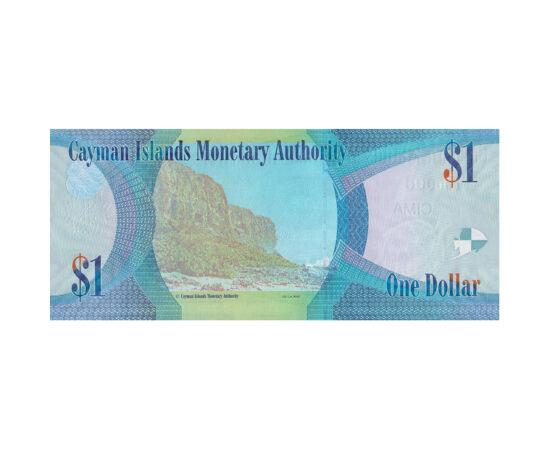 // 1 dollár, Kajmán-szigetek, 2018 // - A Kajmán-szigetek három szigetből álló csoportjára a Karib-tenger lenyűgöző természeti adottságai vonzzák a turistákat. A szigetek az Egyesült Királyság fennhatósága alá tartoznak, így bankjegyükön természetesen II.