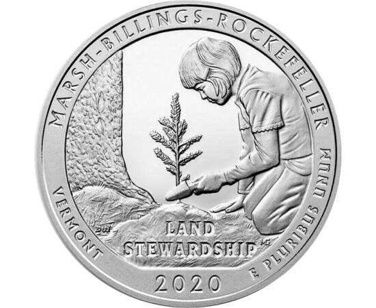 25c,Marsh-Billings-Rock.NP,Ag,2020 USA